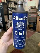 Vintage Rare Atlantic Oel Oil German Bicycle Graphic Spout Oil Can