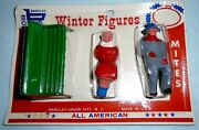 Vintage Lead Barclay Man And Woman On Park Bench Winter Coats Original Pack F/s