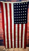 Vintage 48 Star Us Flag | Cotton Bunting | Fast Color | Stitched Stars | 3' X 5'