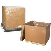 Pallet Covers 42 X 42 X 72 Inch 2 Mil Clear 1 Roll 50 Per Roll