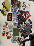 Huge Lot Of Pins Disney Pax Pinny Arcade Rare Keychains Buttons And More