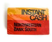New Vintage Playing Cards Instant Cash Atm Northwestern Bank South Sealed 1969