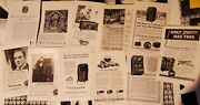 Antique Lot Of 11 Radio, Record Player, Victrola Ads Teens To 40s From Nat Geo