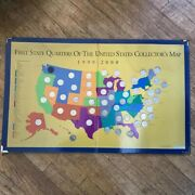 1st State Quarters Of Us Map 1999-2008. Needs Washington Quarter To Be Completed