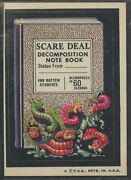 1974 Topps Wacky Packages Series 6 Scare Decomposition Note Book