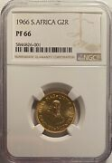 South Africa 1966 Gold 2 Rand Ngc Pf66 Andmdash Only 11000 Minted