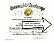 United States Marine Corps Honorable Discharge Replacement Certificate