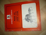 Allis-chalmers 3-point Hitch Chisel Plow Model 610 Operator's Manual Nice