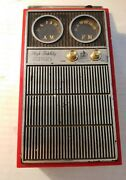 1969 Royal London High Fidelity Radio Personal Portable Flask W/jiggers And Funnel