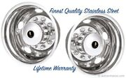 19.5 Chevy Chevrolet Gmc P30 Stainless Wheel Simulator Rim Liner Hubcap Cover Andcopy