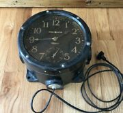 Telechron Ge General Electric Wwii Navy Ships Clock Type A Series B