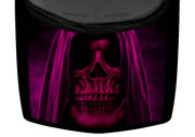 Hooded Skeleton Reaper Death Magenta Truck Hood Wrap Vinyl Car Graphic Decal
