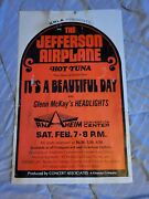 The Jefferson Airplane Hot Tuna Grace Cardboard Boxing Style Concert Poster