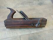 Rare Antique G. Robinson E-king Wood Plane Wp Ward Cast Steel Woodworking Tools