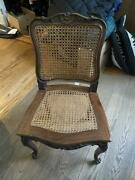 19th Century 4 Pristine French Provincial Cane Back And Seat Dining Chairs