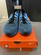 2012 Nike Flyknit Trainer+ Racer One Blue Glow Tint White Black 532984-440 Ds 8