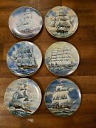 9 Plates The Great American Sailing Ships 12 Plates Classic Rose Collection