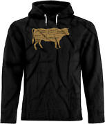 Bsw Menand039s Beef Labels Bbq Cuts Steak Sirloin Cow Hoodie