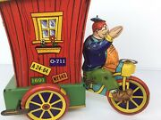 🔥antique Tin Wind Up Humphrey Mobile Toy By Wyandotte Toys Vhtf Works Nice