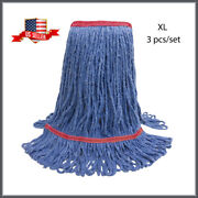 3 Mop Heads-xl Loop-end Janitorial Cleaning Supplies Mop Head Set L2101xl Sale