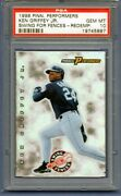 Ken Griffey Jr 1998 Pinnancle Performers Swing For The Fences Redemption Psa 10