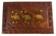 Trinket Wooden Box Antique Decorative Handmade Keepsake Jewelry Boxes For Gifts