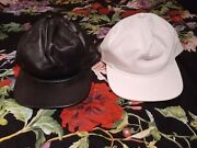 Stampd La Leather Snapback Hats Black And White