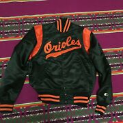 Vintage 80s Orioles Starter Satin Jacket Great Condition Not Much Used S