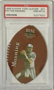 Peyton Manning 1998 Playoff Contenders Leather Rookie Psa 10