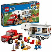 Lego Lego City Camping And Pickup Trucks 60182 Block Toy Boy From Japan