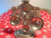 Crosbyandtaylor Pewter Measuring Spoons With Holder/vintage Christmas Tree