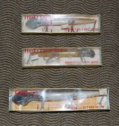 Lot Of 3 Vintage Husky Cisco Kid Lures, Cisco Kid Lure Boxes And Tops Included.