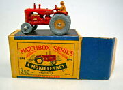 Matchbox 1-75 Series No. 04a Tractor 1st Casting With Mudguards In B Box
