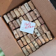 Wine Corks Lot Of 160 - Wine Bottles Corks Recycled / Used Free Shipping