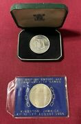 1966 Jamaica 5 Shillings 8th British Empire And Commonwealth Games- Lot Of Two
