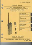 Historical Book For Radio Set An/prc-127 Maintenance And Repair Parts