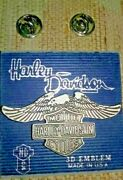 Ending Soon 1990 Nos New Discontinued 3d Emblem P25 Harley Eagle With Logo Pin