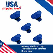 Blue Drain Plugs For Mercruiser Manifold And Block 5 Pack 18-4226 22-806608a1