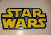 Blue And Yellow Star Wars Wall Decor Sign