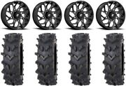 Fuel Runner 20 Wheels Black 35 Outback Maxand039d Tires Polaris Rzr Turbo S / Rs1