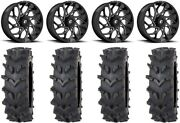 Fuel Runner 20 Wheels Black 35 Outback Max'd Tires Polaris Rzr Turbo S / Rs1