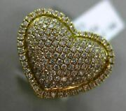 Estate .70ct Diamond 18kt Yellow Gold Double Heart Micro Pave Classic Love Ring