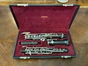 Yamaha Intermediate Oboe - Yob-411 - Excellent Condition - Left F And Low Bb Keys