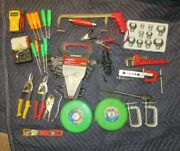 30pc Box Lot /junk Drawer Tools Husky Wrenches Multimeter Crow Feet Flaring Tool
