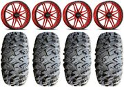 Raceline Krank Xl 18 Wheels Red 33 Motoclaw Tires Can-am Commander Maverick