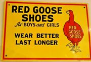Red Goose Shoes Original Metal Advertising Sign For Boys And Girls