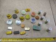 Vintage Watchmakers Watch Parts Tools Jewelers Storage Tin Vile Case Lot