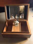 Rare Early Swiss Vintage Reuge Jewelry Music Box Automaton Dancing Couple Dolls