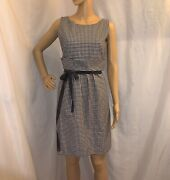 Pre-loved Authentic Valentino Red Size 44 Black/white Houndstooth Dress