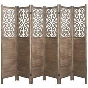 Cutout Room Divider Double Hinged Folding Privacy Screens Free Standing 5.6 Ft